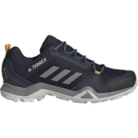 adidas TERREX AX3 Gore-Tex Zapatillas Senderismo Resistente al Agua Hombre, legend ink/grey three/active gold